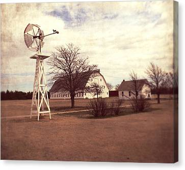 Windmill At Cooper Barn Canvas Print by Julie Hamilton
