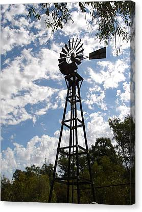 Canvas Print featuring the photograph Windmill At The Arboretum by Marilyn Barton