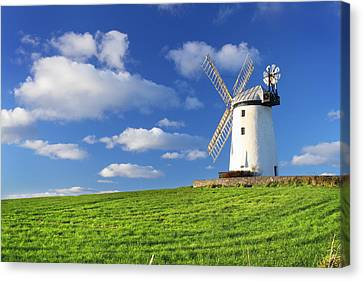 Windmill Canvas Print by Drew McAvoy