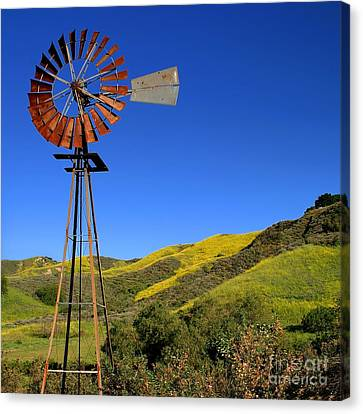 Canvas Print featuring the photograph Windmill by Henrik Lehnerer