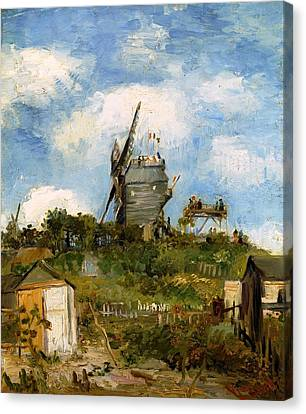 Windmill In Farm Canvas Print by Sumit Mehndiratta