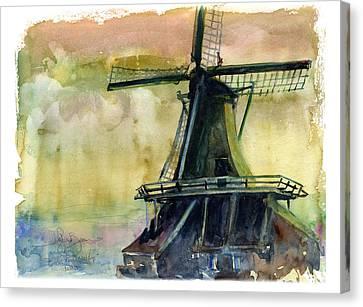 Windmill Canvas Print by John D Benson