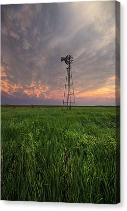 Canvas Print featuring the photograph Windmill Mammatus by Aaron J Groen