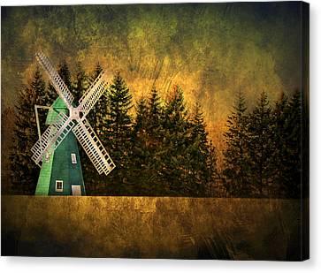 Mills Canvas Print - Windmill On My Mind by Evelina Kremsdorf