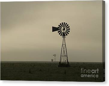 Windmill Perspective Canvas Print by Fred Lassmann