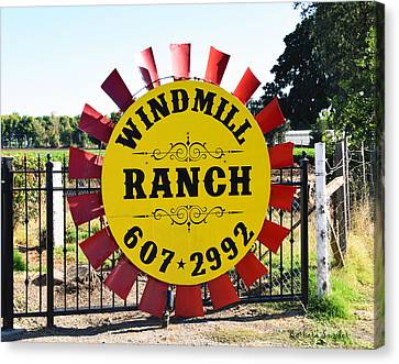 Windmill Ranch Canvas Print by Barbara Snyder