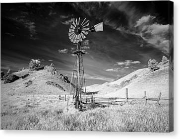 Wind Turbines Canvas Print - Windmill Stained by Todd Klassy