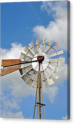 Windmill Canvas Print by Teresa Blanton
