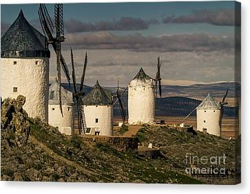 Windmills Of La Mancha Canvas Print by Heiko Koehrer-Wagner