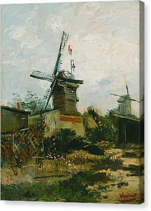 Windmills On Montmartre Canvas Print
