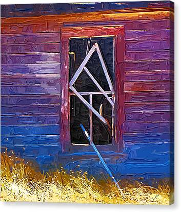 Canvas Print featuring the photograph Window-1 by Susan Kinney