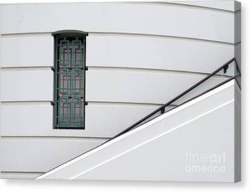 Window And Rail Canvas Print by Dan Holm