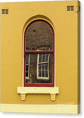 Canvas Print featuring the photograph Window And Window 2 by Perry Webster