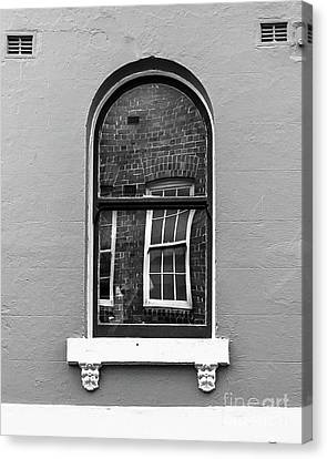 Canvas Print featuring the photograph Window And Window by Perry Webster
