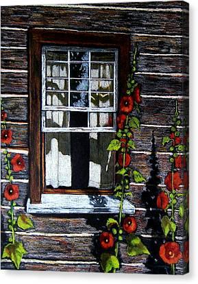 Old Cabins Canvas Print - Window At Upper Canada Village by Joyce Geleynse
