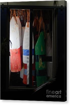 Window Buoys Key West Canvas Print