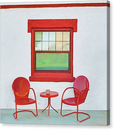 Window - Chairs - Table Canvas Print by Nikolyn McDonald
