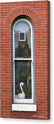 Canvas Print featuring the photograph Window Dressing by Brian Wallace