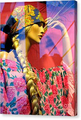 Window Dressing Canvas Print by Colleen Kammerer