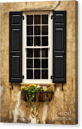 Window Dressing Canvas Print by Jerry Fornarotto