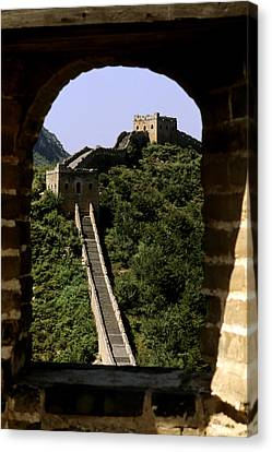 Window Great Wall Canvas Print by Bill Bachmann - Printscapes
