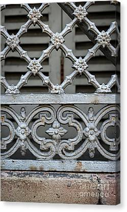 Window Grill In Toulouse Canvas Print