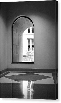 Window - Harold Washington Library - Chicago Canvas Print by Nikolyn McDonald