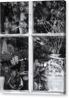 Window In Black And White Canvas Print by Tom Singleton