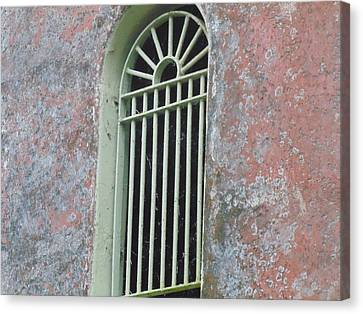 Window In Tower Canvas Print by Dotti Hannum