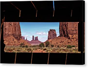 Canvas Print featuring the photograph Window Into Monument Valley by Eduard Moldoveanu