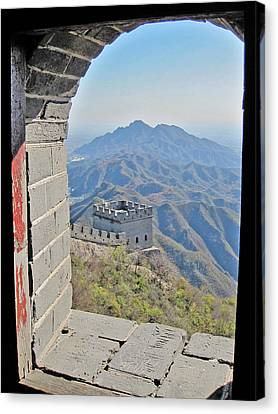 Window. Made In China. Canvas Print by Andy Za