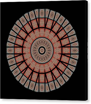 Earth Tones Canvas Print - Window Mosaic - Mandala by Nikolyn McDonald