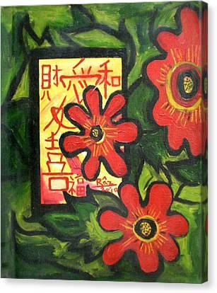 Window Of Goodluck Canvas Print by Rizwana Mundewadi