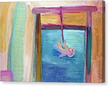 Window  Of My Childhood Canvas Print by Aleksandr Volkov