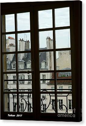 Window Of Picasso Museum By Taikan Canvas Print