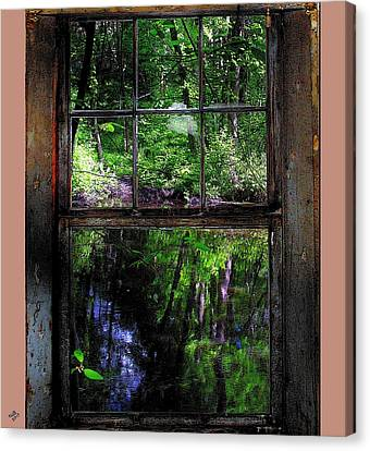 Window On The River Canvas Print