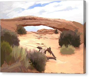 Canvas Print featuring the digital art Window On The Valley by Gary Baird