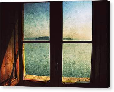 Window Overlooking The Sea Canvas Print by Vittorio Chiampan