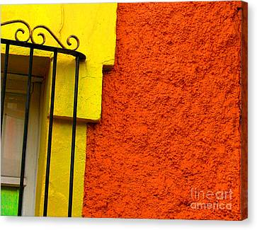 Window Plus Green By Michael Fitzpatrick Canvas Print by Mexicolors Art Photography