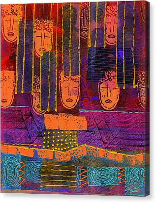 Canvas Print featuring the painting Window Shopping by Angela L Walker