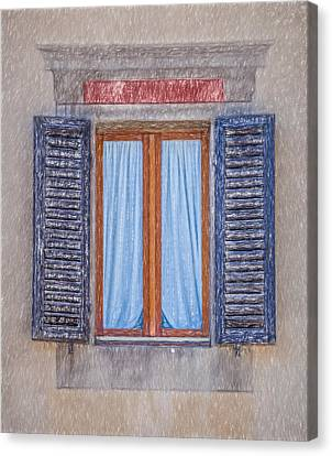 Window Sketch Of Tuscany Canvas Print by David Letts