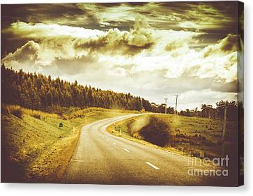 Window To A Rural Road Canvas Print by Jorgo Photography - Wall Art Gallery