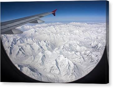 Window To Himalaya Canvas Print by Hitendra SINKAR