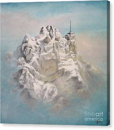 Canvas Print featuring the painting Window To Sky by Sorin Apostolescu