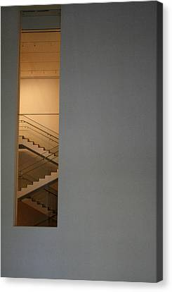 Window To Stairs Canvas Print by Jeff Porter