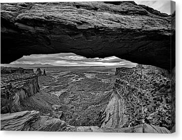 Window To The Canyon Below Canvas Print by Rick Berk