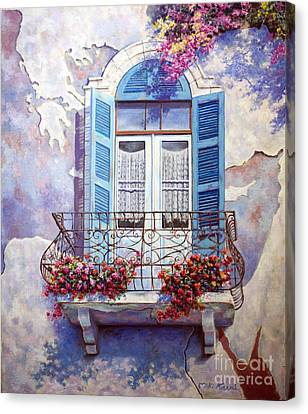 Window To The Mediterranean Canvas Print