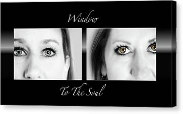 Window To The Soul Canvas Print by Steven Michael