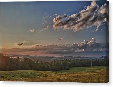 Window To Vermont In Color Canvas Print