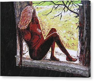 Window View Canvas Print by Ricklene Wren
